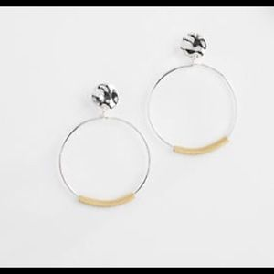 J. Jill silvertone and goldtone hoop earrings NWT
